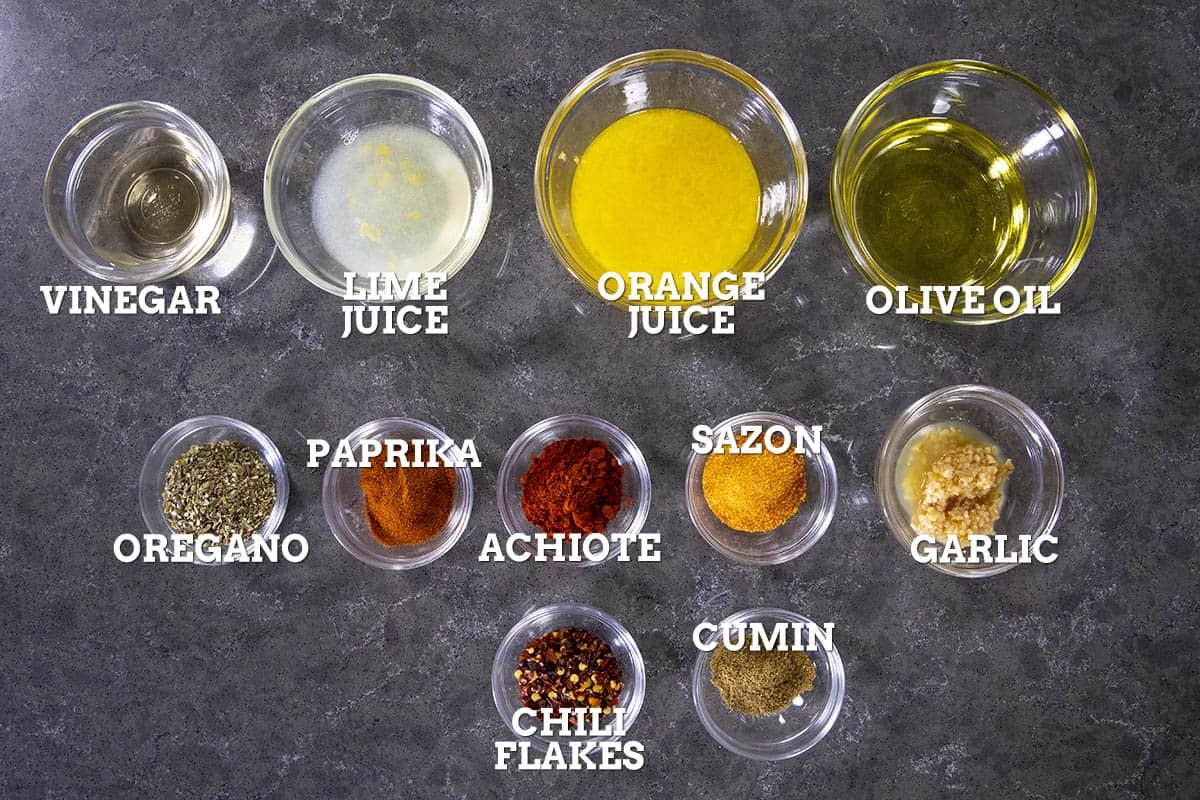 Pollo Asado Marinade Ingredients