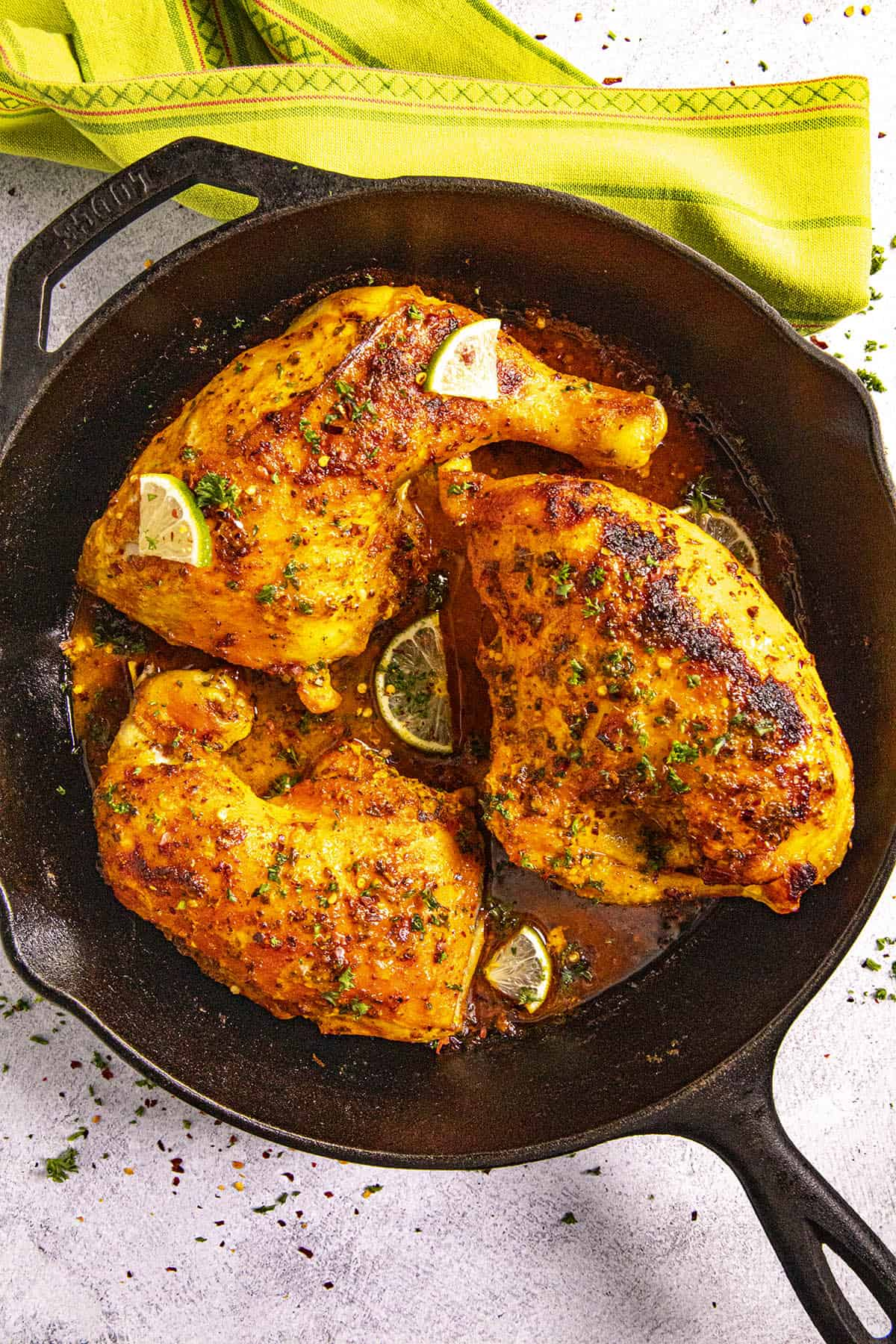 Pollo Asado (Mexican roast chicken) ready to serve