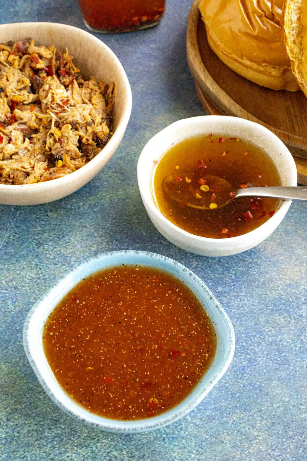 Both Eastern and Western Carolina Vinegar BBQ Sauces