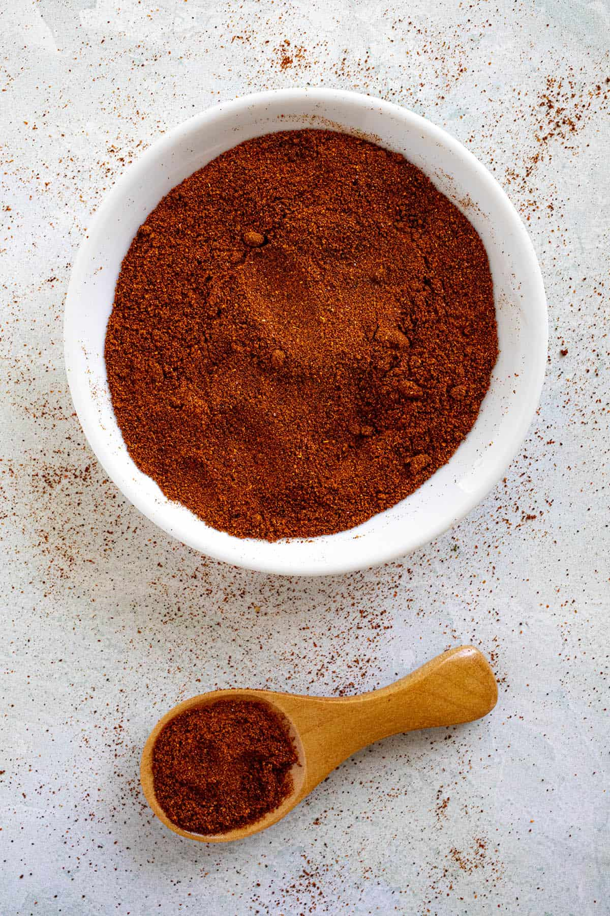 Chipotle Powder on a spoon
