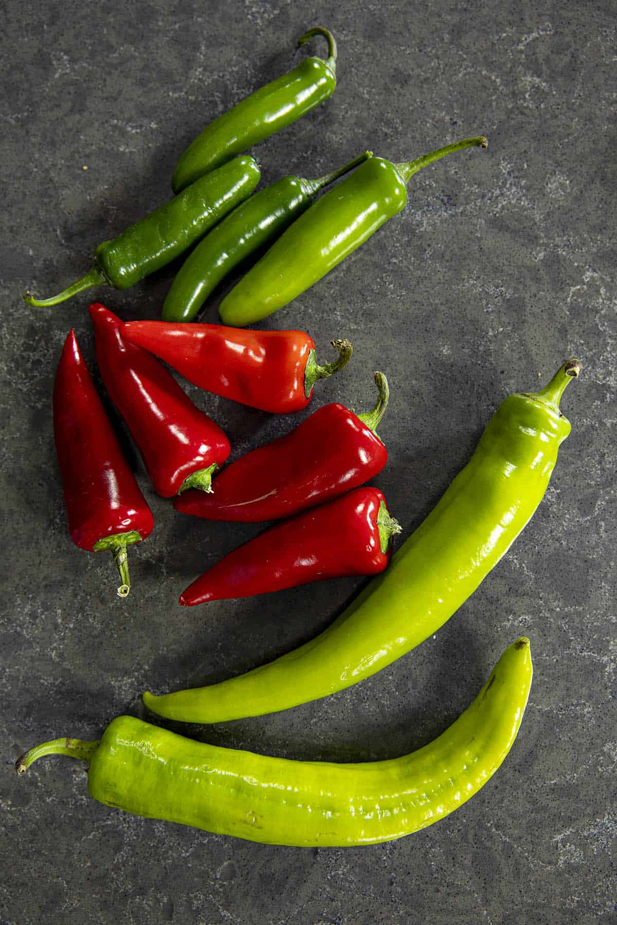 Hot peppers for making pepper relish