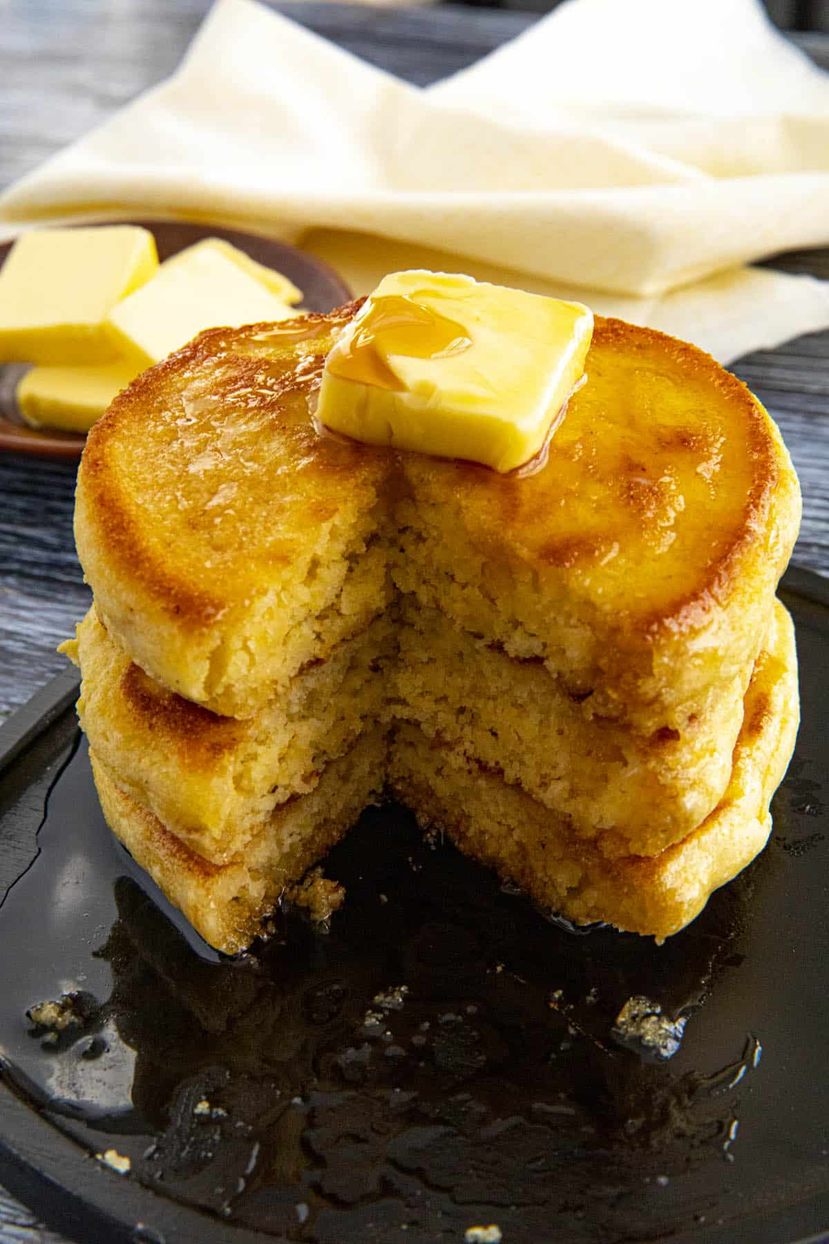 Johnny Cakes with melted butter