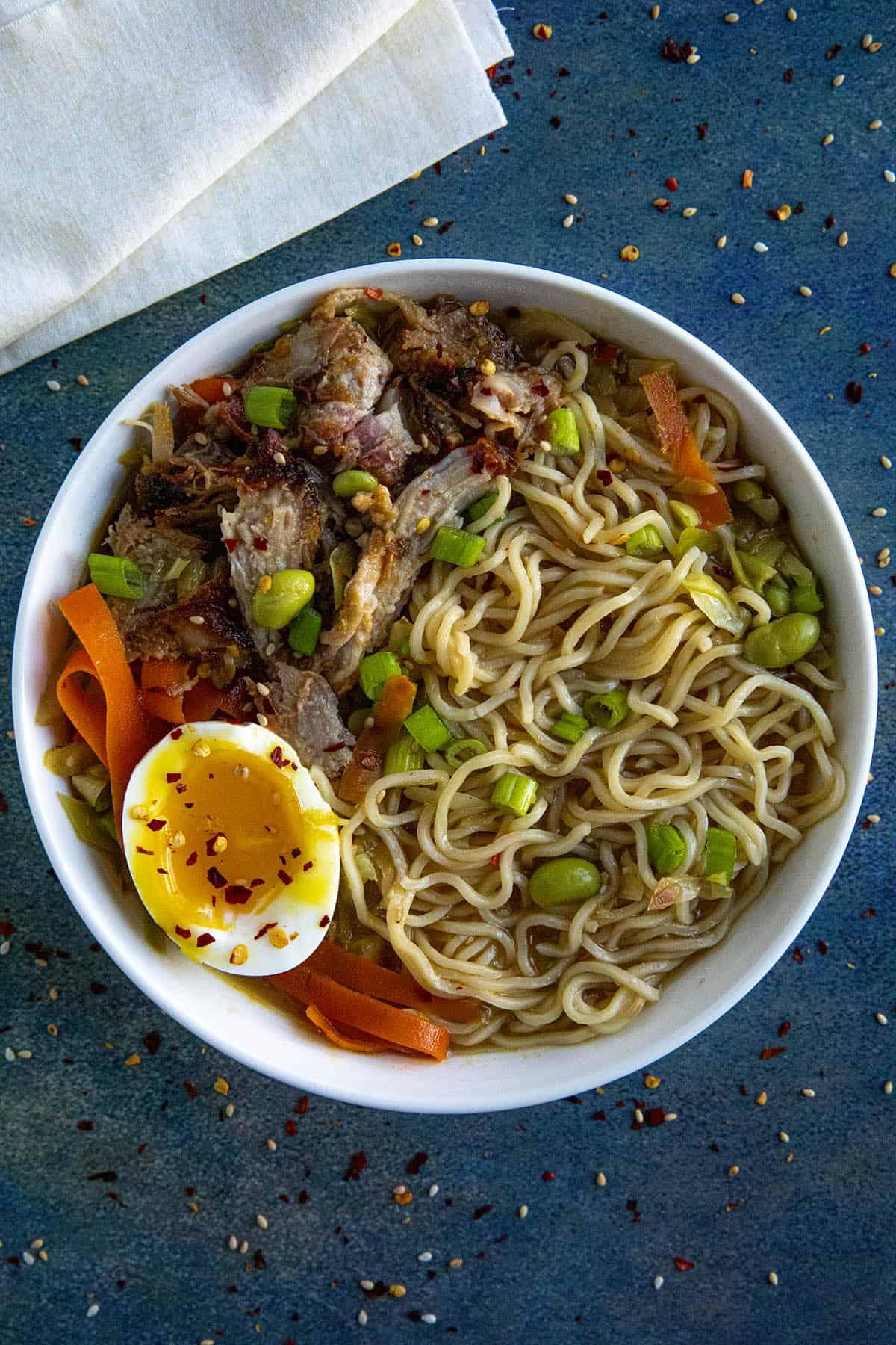 Miso Ramen in a bowl