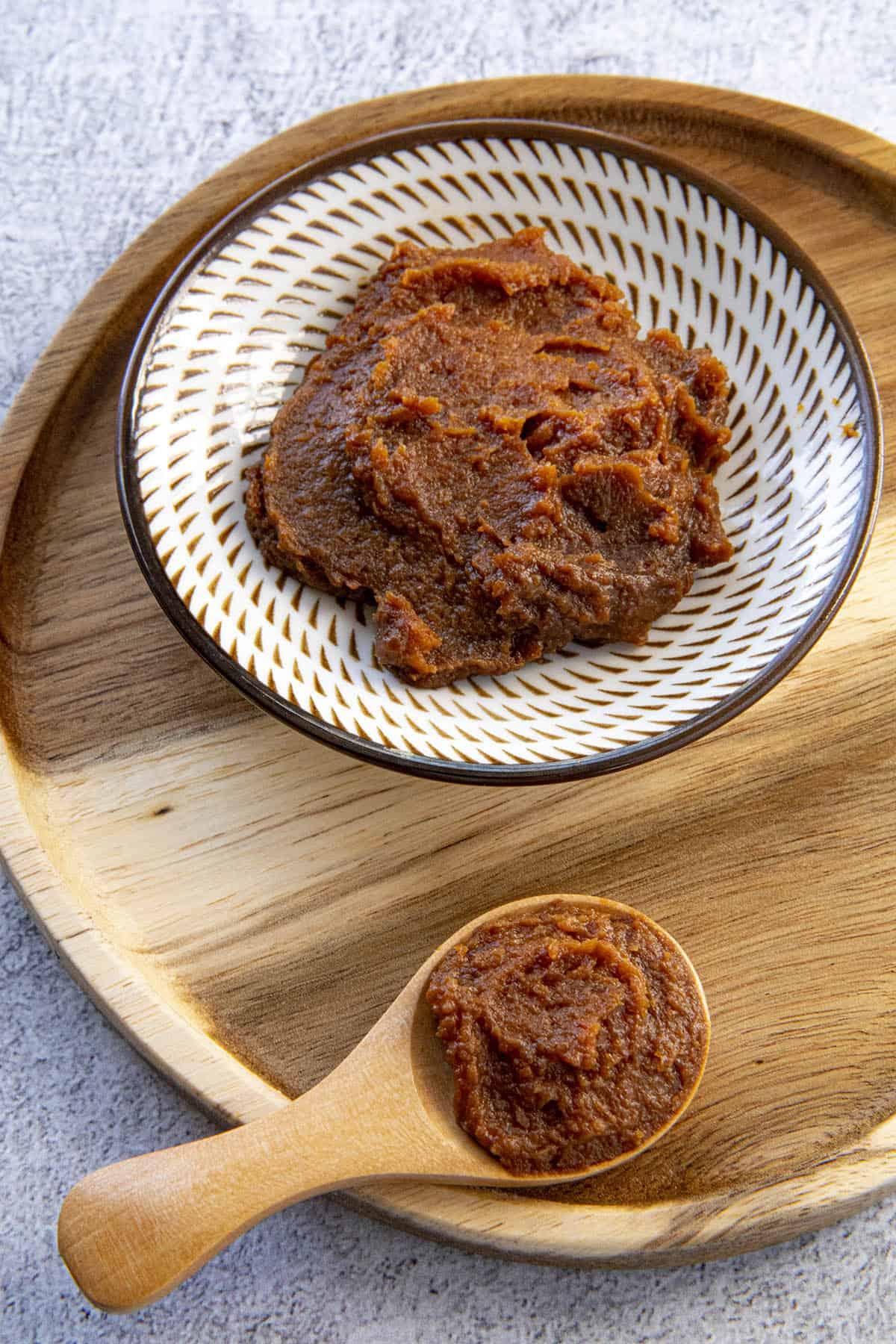 Doenjang (Korean Bean Paste) in a bowl