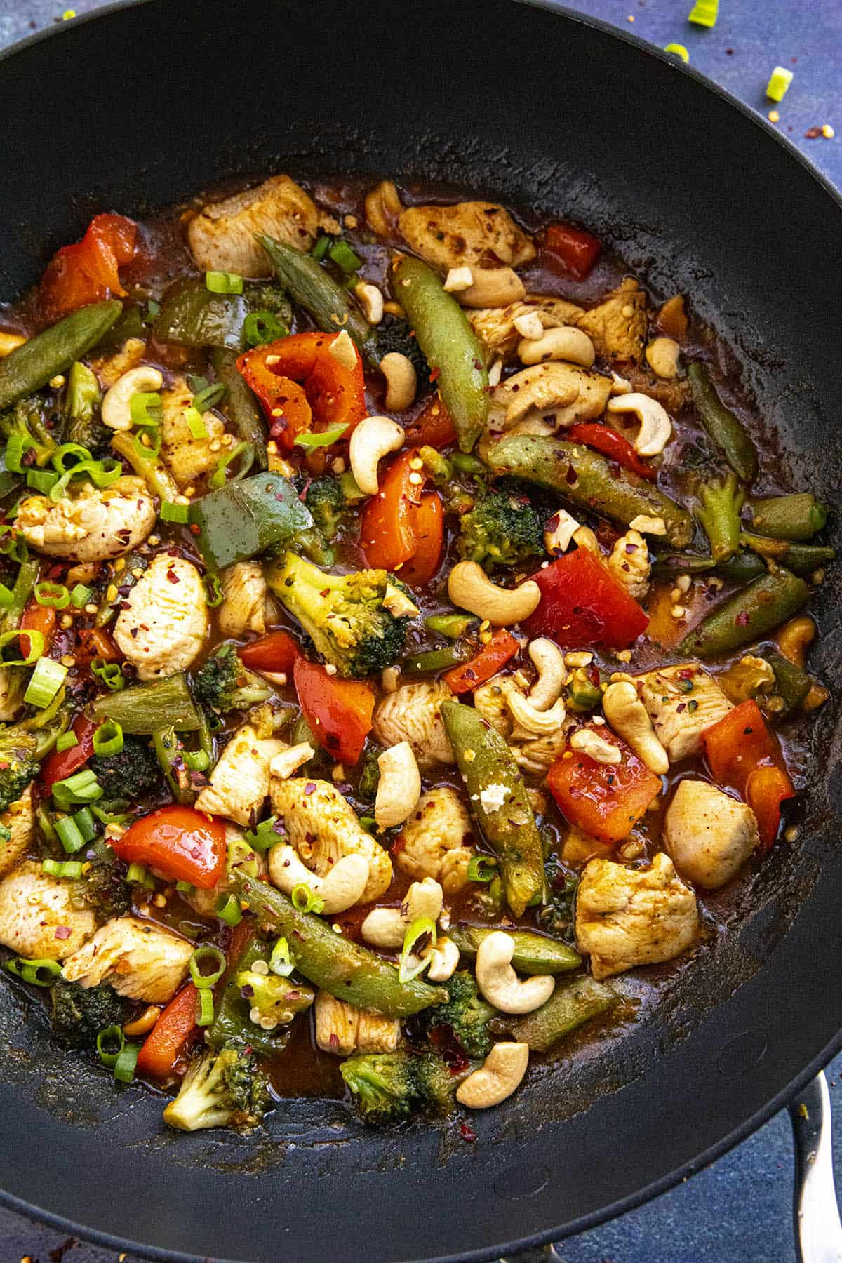 Chicken Stir Fry in a pan