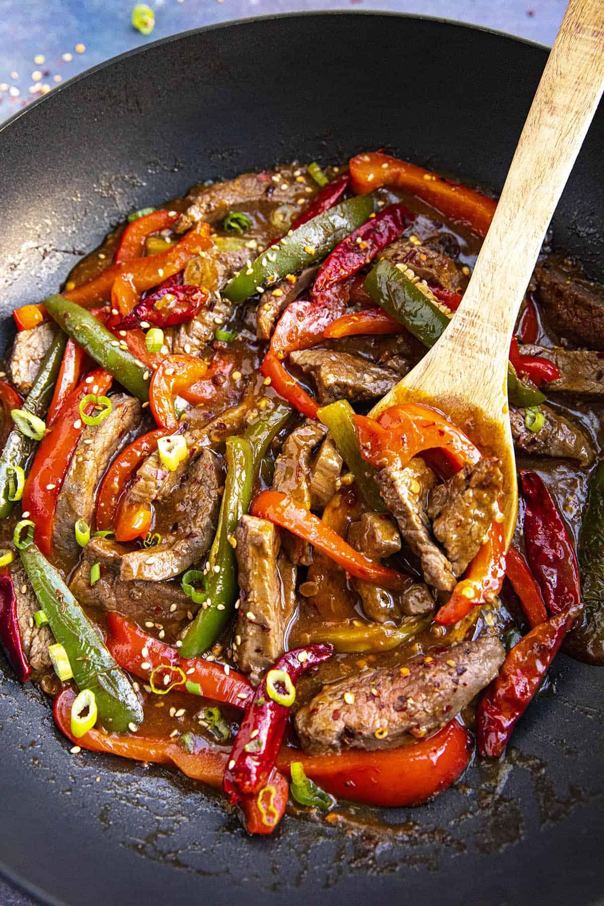 Serving up Szechuan Beef