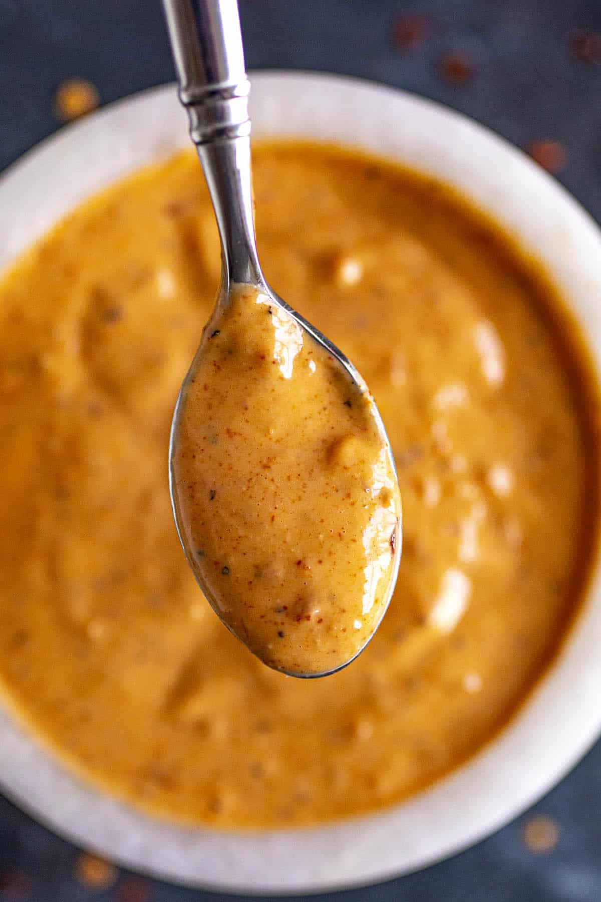 Comeback Sauce on a spoon