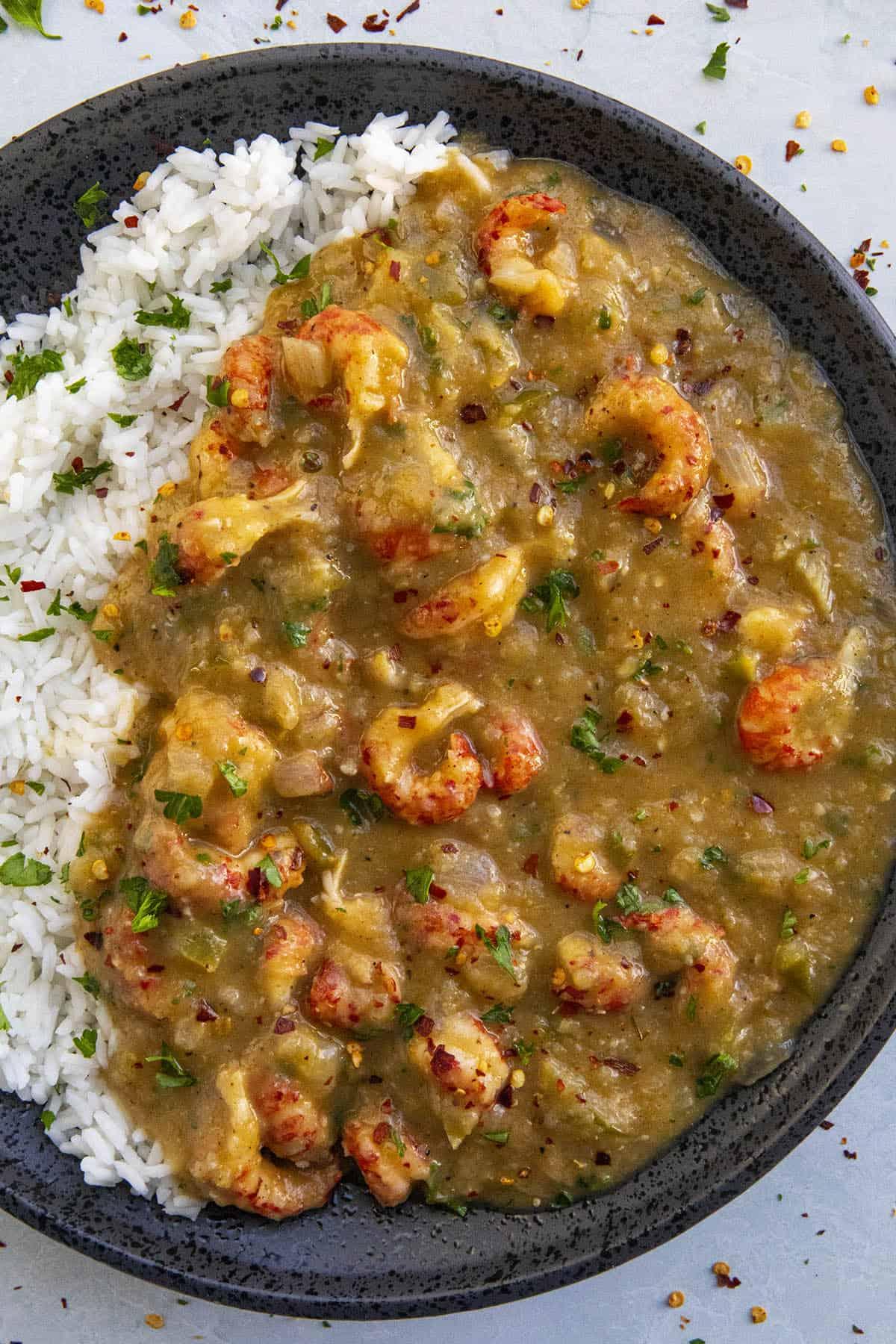 Crawfish Etouffee on a plate