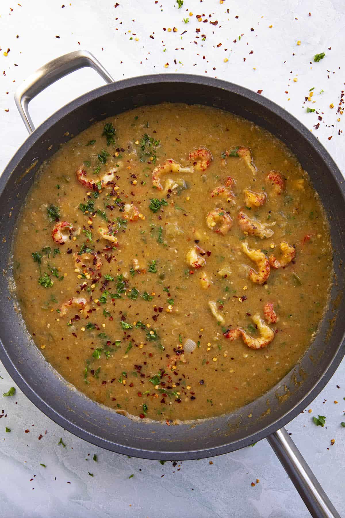 Crawfish Etouffee ready to serve