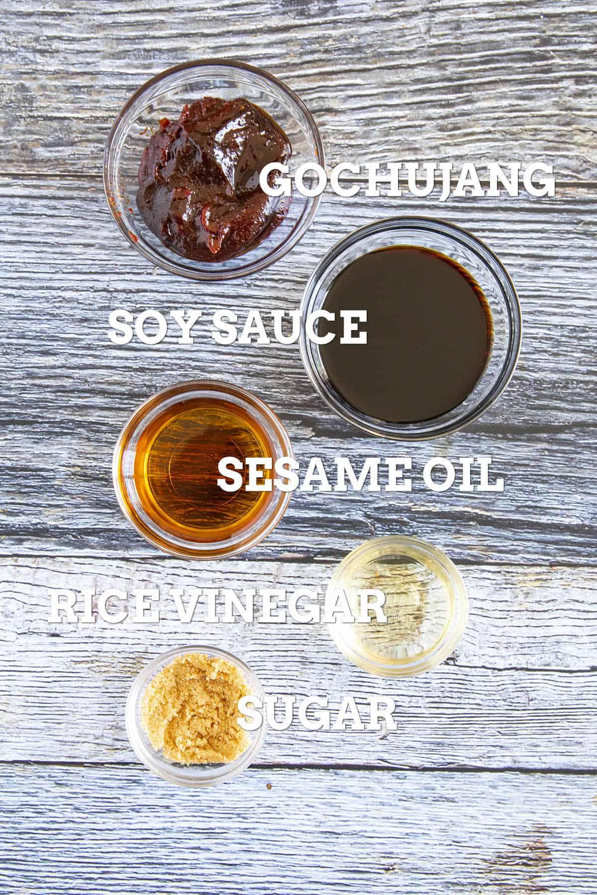 Gochujang Sauce ingredients