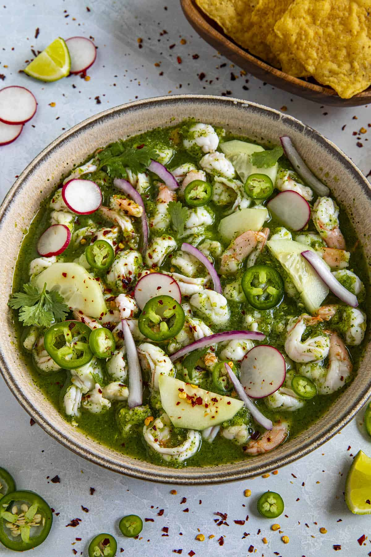 Aguachile (Mexican Style Shrimp Ceviche)