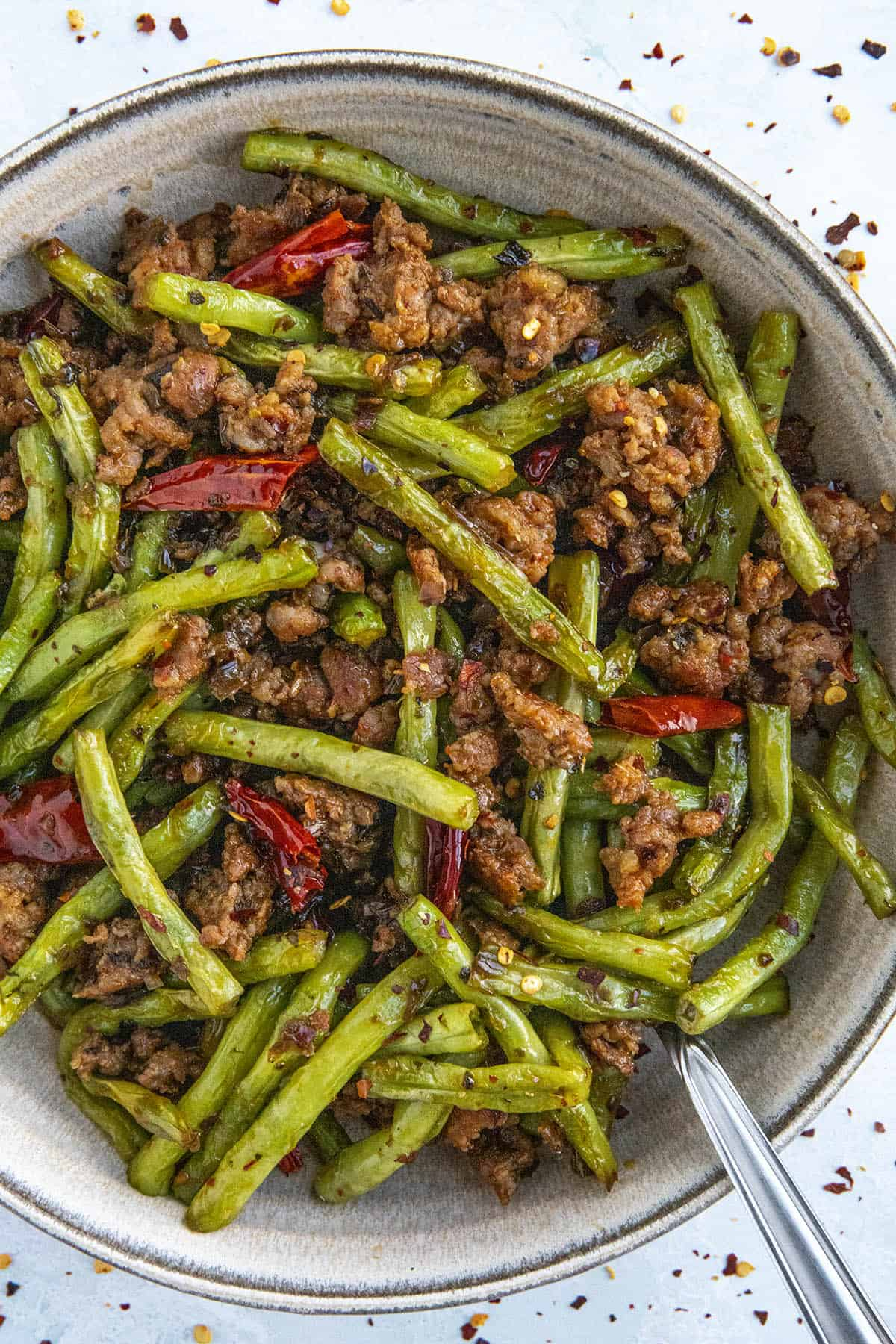 Sichuan Dry-Fried Green Beans (Ganbian Sijidou)