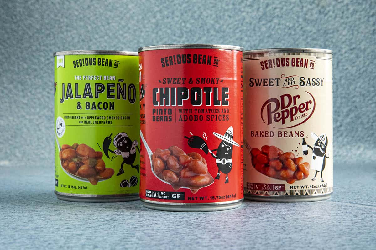 3 cans of beans from Serious Bean Company