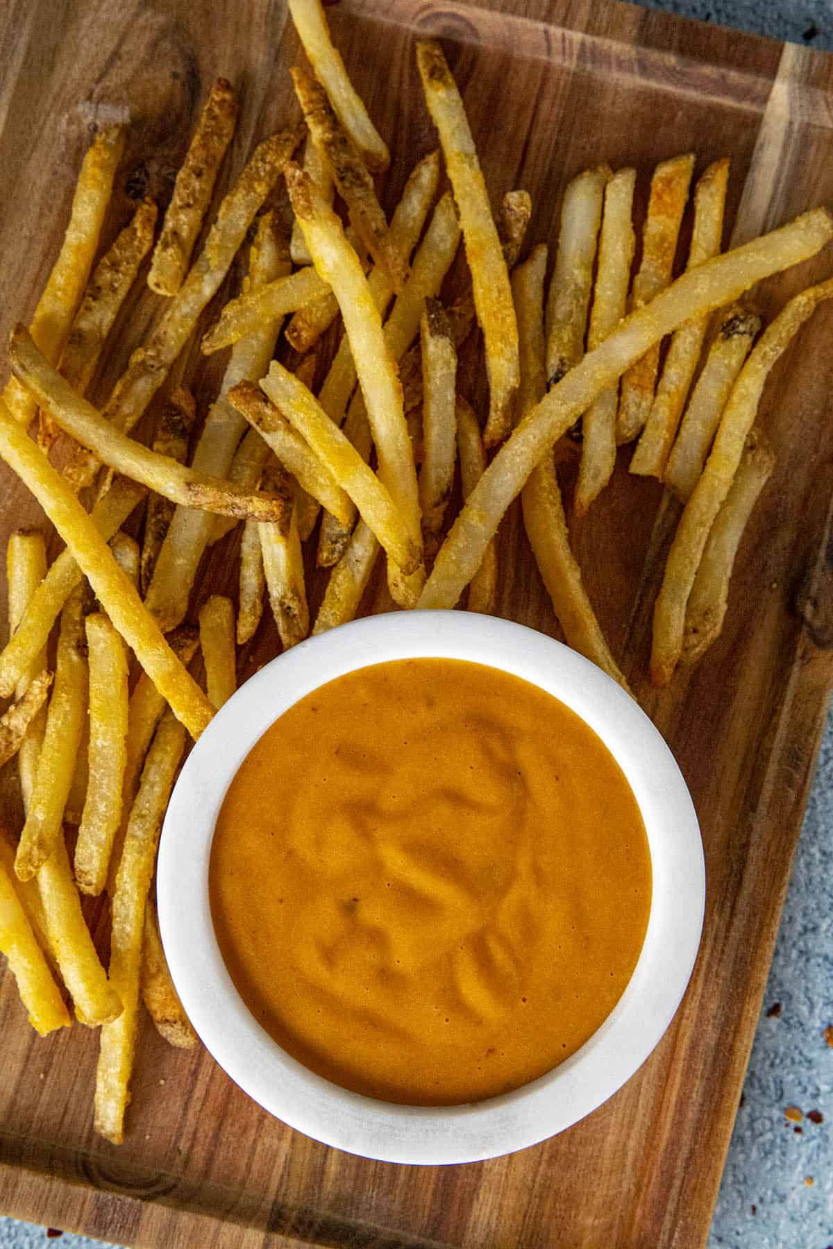 Chipotle Aioli on a platter, ready to serve