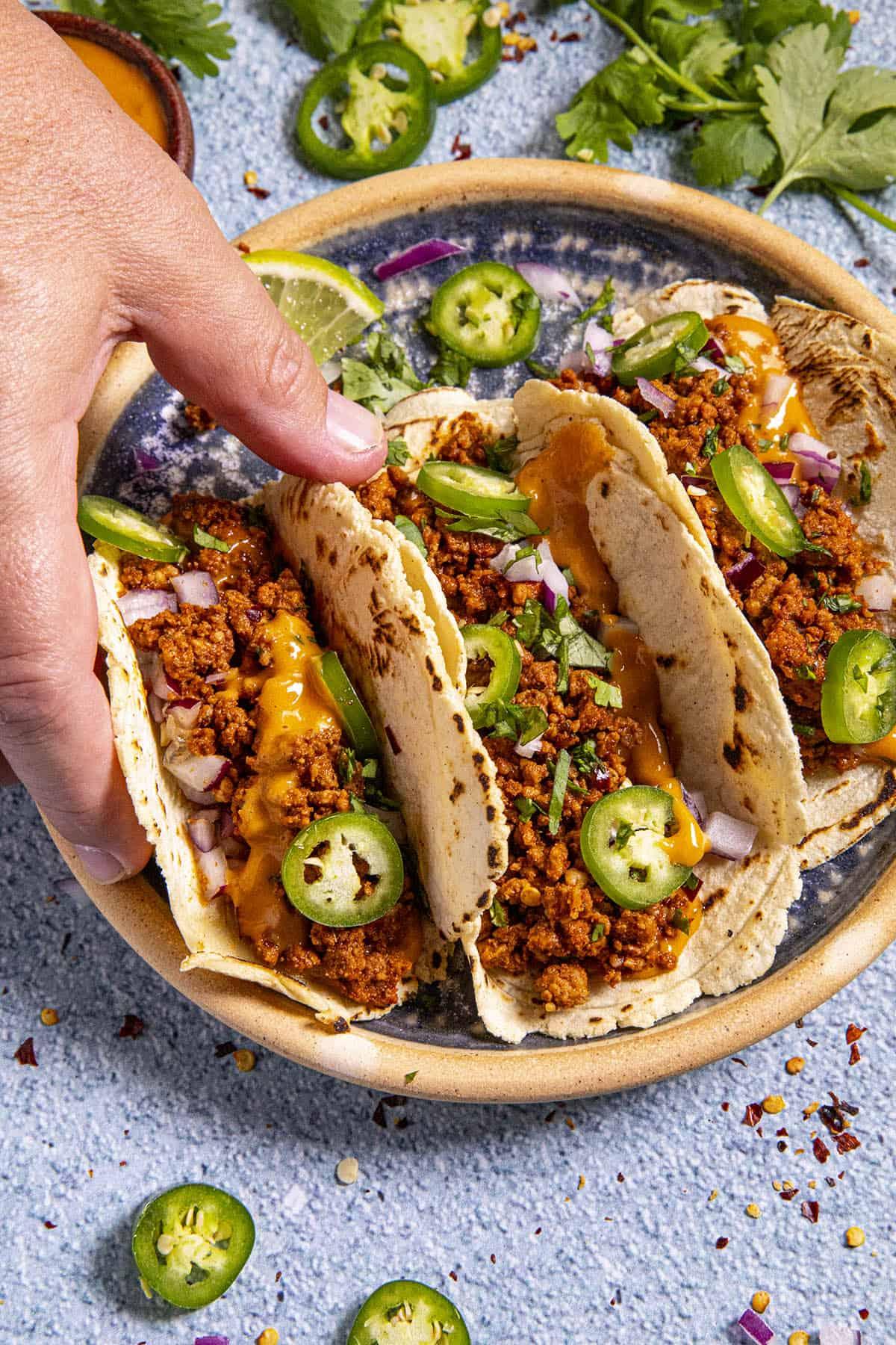 Spicy Chorizo Tacos