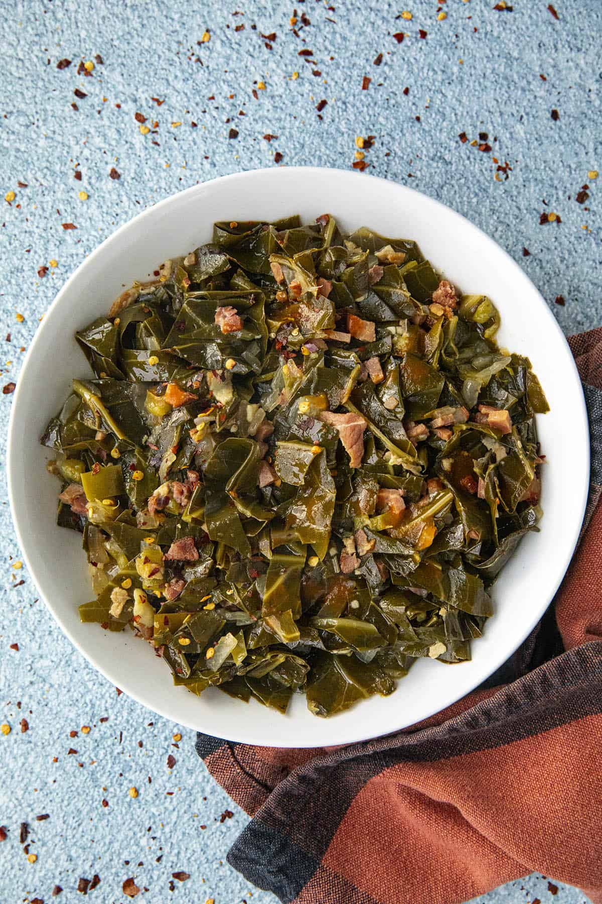 Southern Collard Greens in a bowl