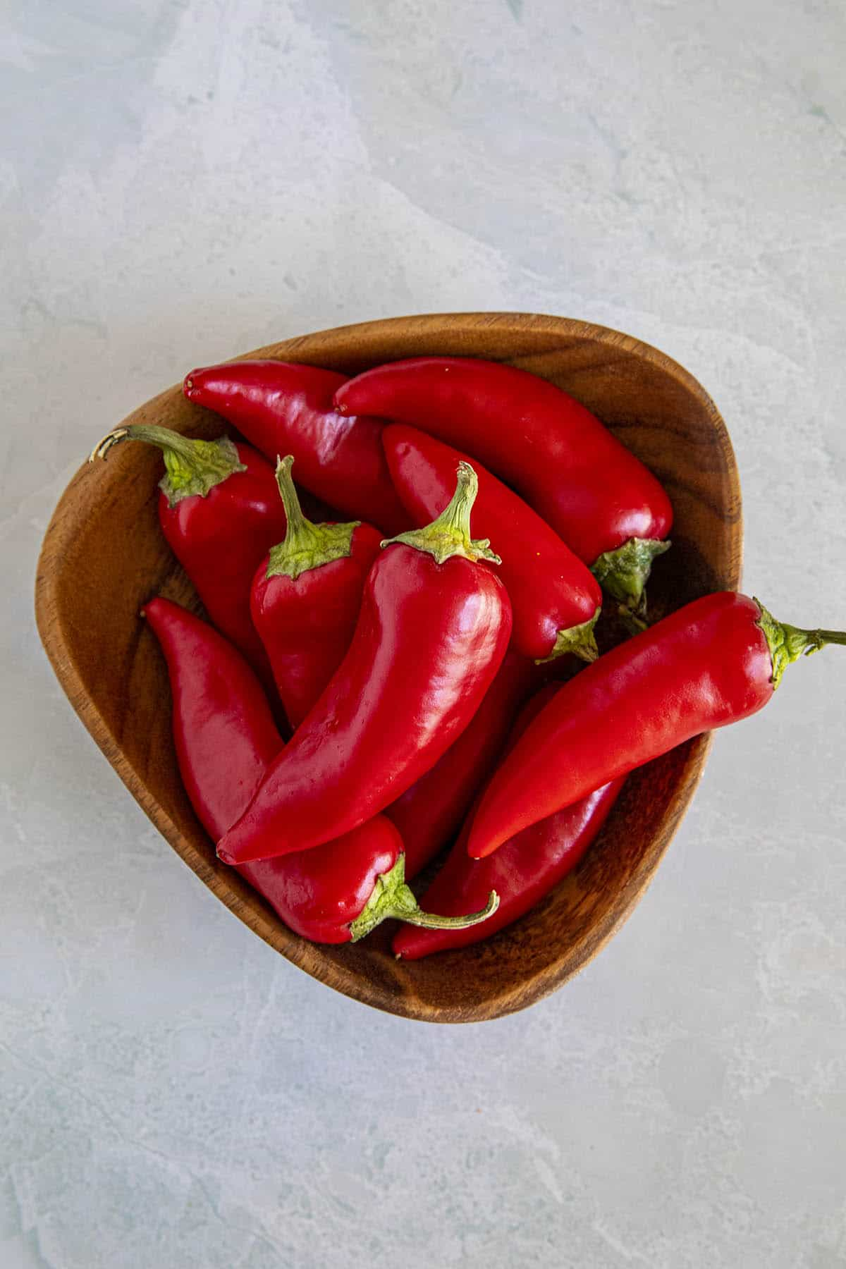 A bowl of Fresno Peppers