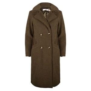 Esqualo Coat long boucle
