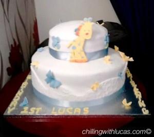 Birthday and christening cake