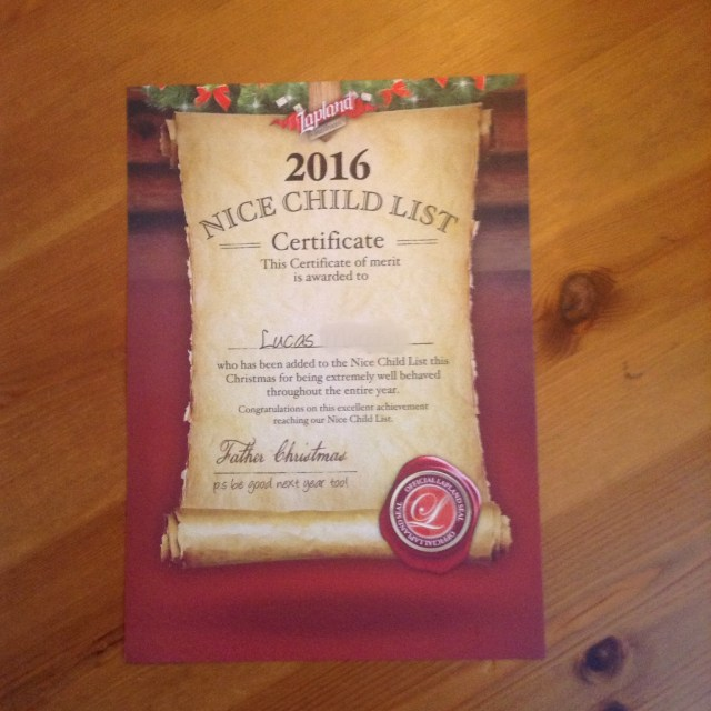 Lapland Mailroom Review Nice child list certificate