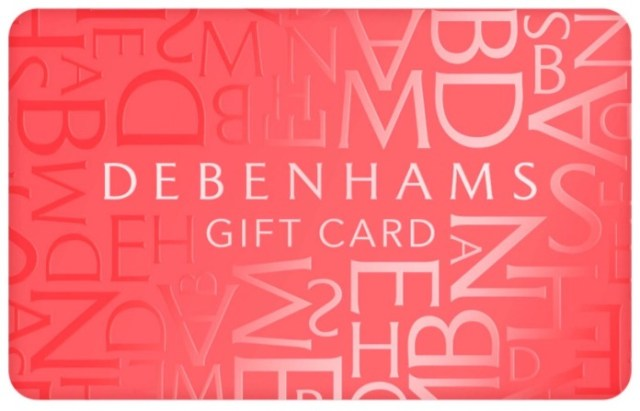 Mothers day gift ideas debenhams gift card