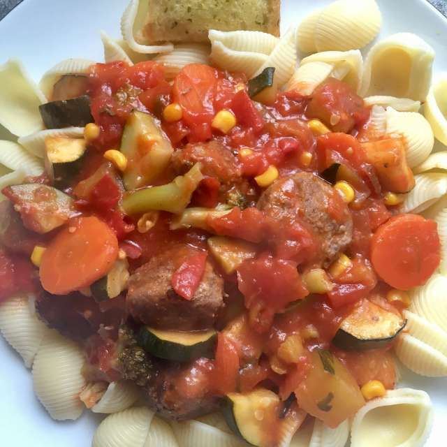 Healthy pasta and meatballs #HealthyRedMeat