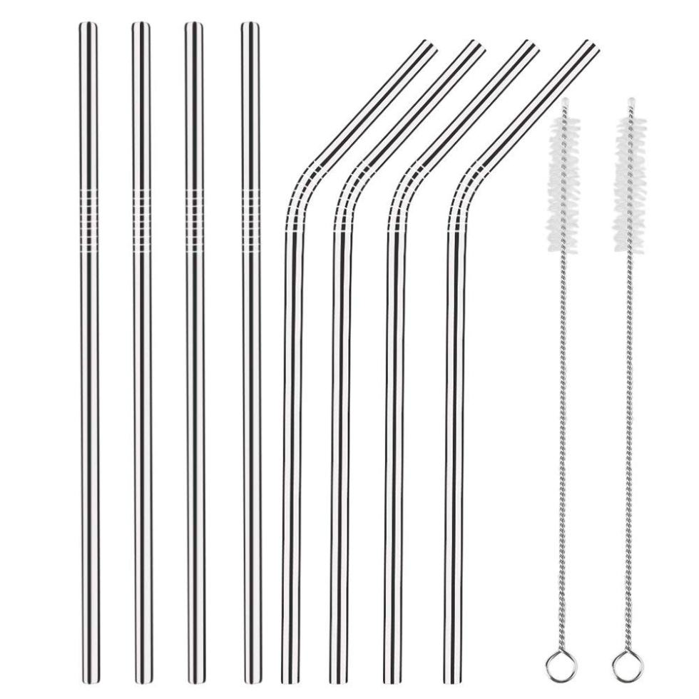 easy ways to go plastic free, stainless steel straws