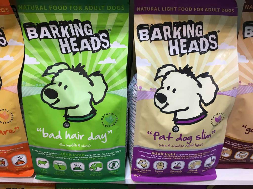 Barking Heads dog food