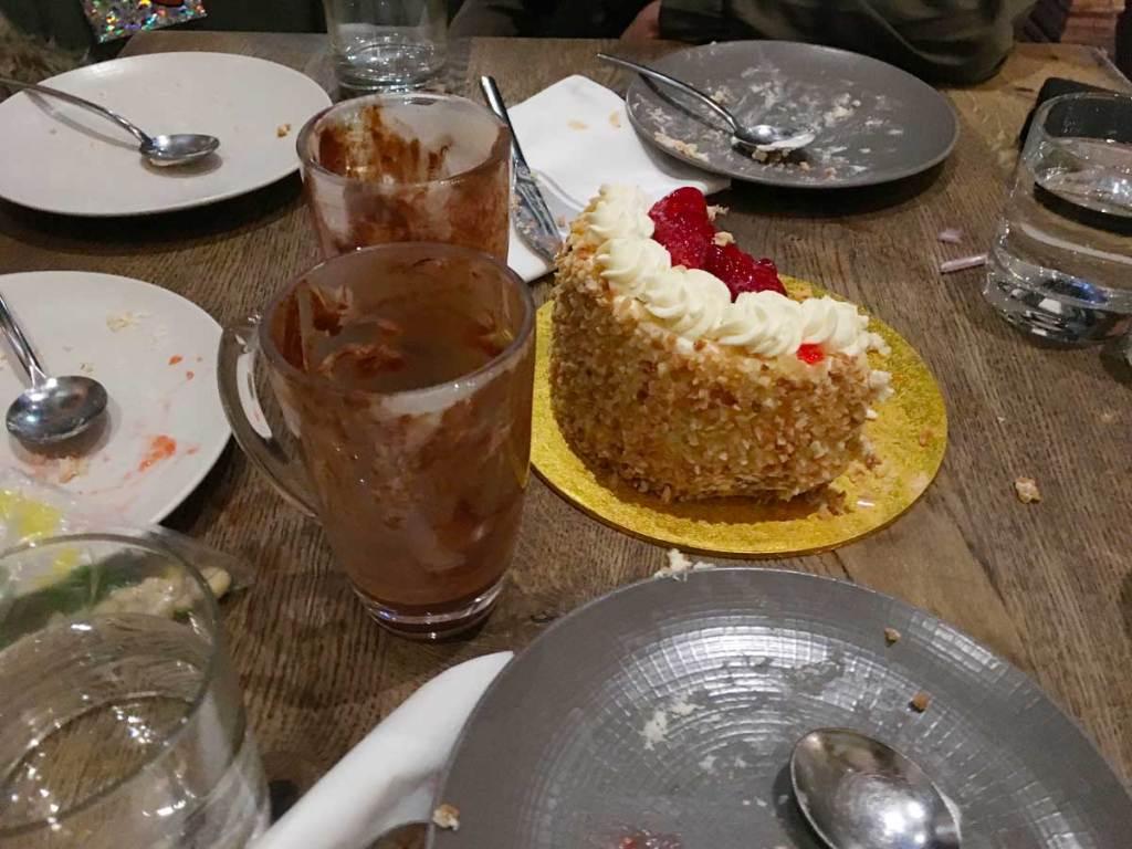 Birthday party leftovers at Farmacy