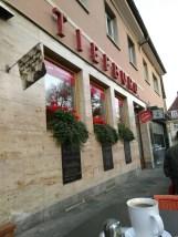 Front des Café Tiefburg von außen