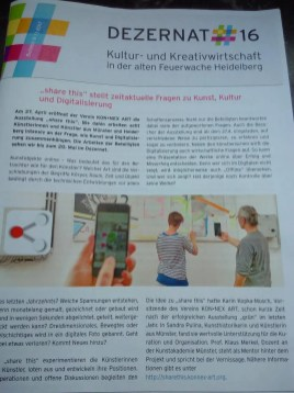 Bericht zur Ausstellung share this in der Zeitschrift des Dezernat 16.