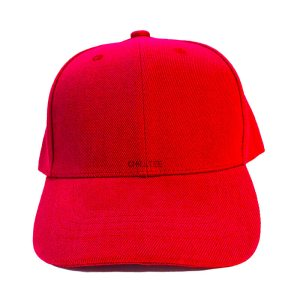Custom and Embroider your Red Kids Cap Front View
