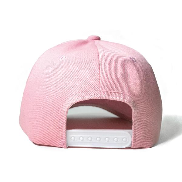 Custom and Embroider your Baby Pink Cap Back View