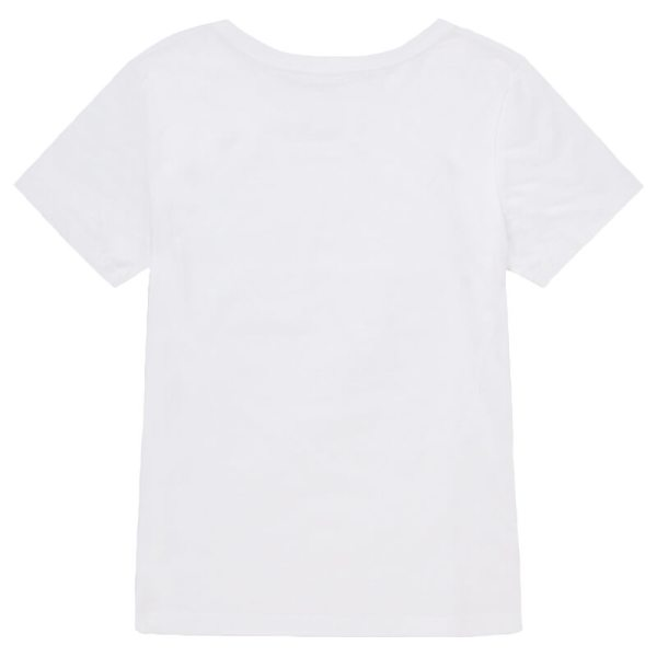 Women White Crew T-shirt Back View