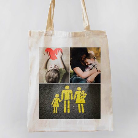3 Photo Collage Tote-bag