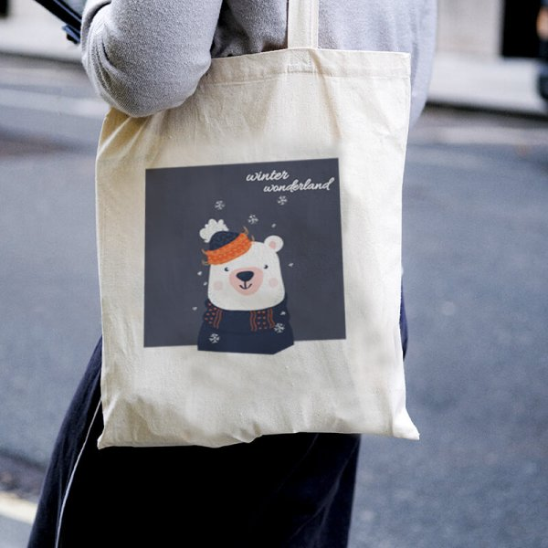 Winter Wonderland Canvas Tote-bag Freesize, Custom our iTee template and make it yours. Model View