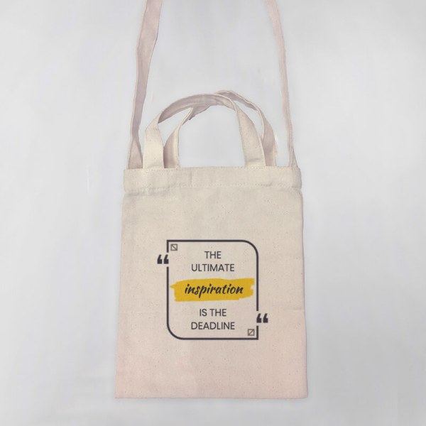 The Ultimate Inspiration Mini Canvas Tote-bag, Custom our iTee template and make it yours. Product View