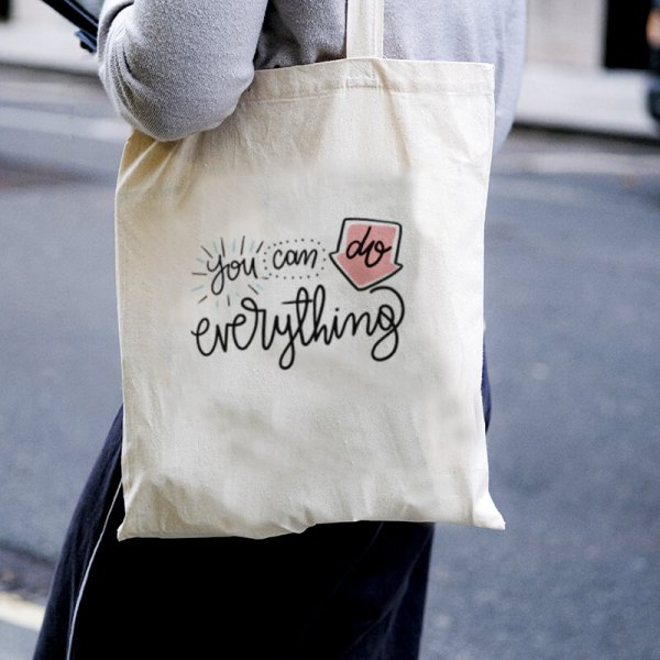 You Can Do Anything Canvas Tote-bag Freesize, Custom our iTee template and make it yours. Model View