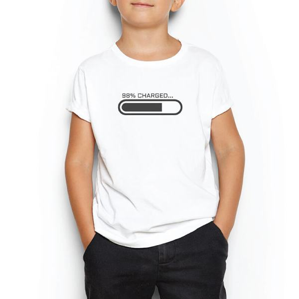 Custom your Loading... White T-shirt Template, Boy Model View