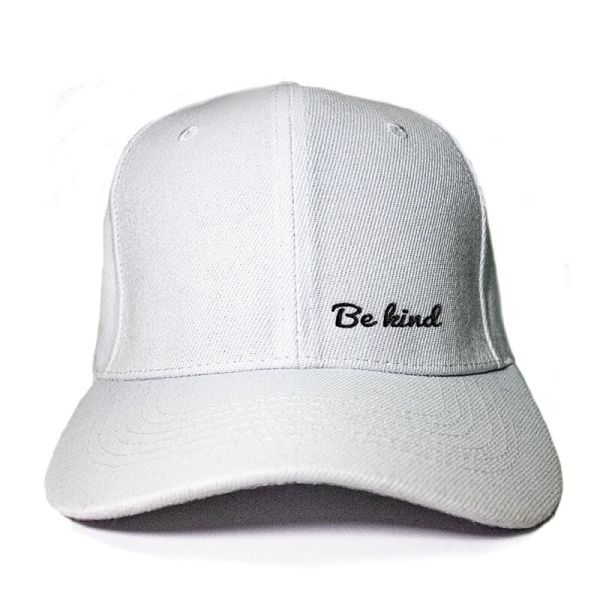 Be Kind in White Embroidered Cap, Custom our iTee template and make it yours. Product View