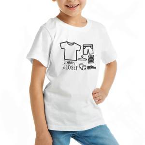 Custom your I'm a Moving Closet White T-shirt Template, Girl Model View