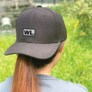 Initial Block Black Embroidered Cap, Custom our iTee template and make it yours. Model View