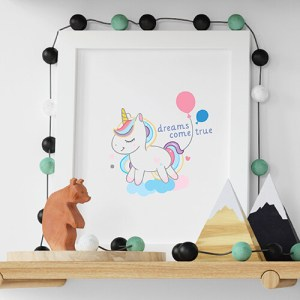 Create your I want a unicorn White Kids T-shirt Thumbnail, Custom our iTee template and make it yours.