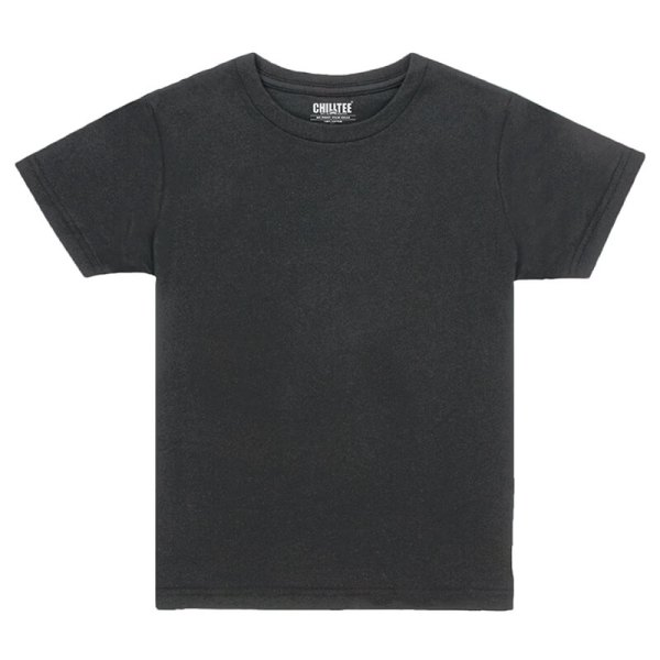 Kids Black Crew T-shirt Front View