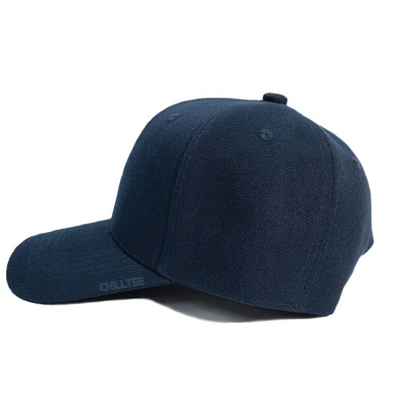 Custom and Embroider your Navy Kids Cap Left Side View