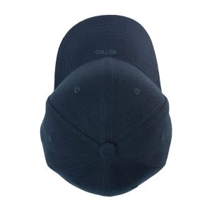 Custom and Embroider your Navy Kids Cap Top Side View