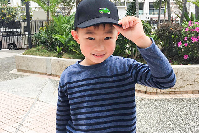custom kids embroidered cap