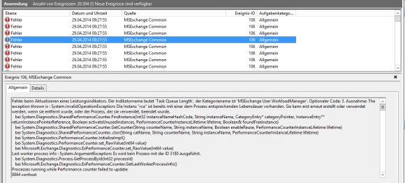 Exchange 2013 - Performance Counters 1