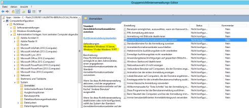 Windows 10 Gruppentichtlinienverwaltungs-Editor