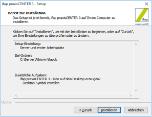 ifap Praxiscenter Installation 7